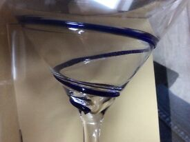 Pier Martini glasses x 4. BNIB.