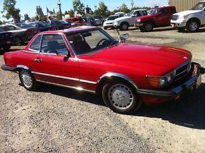 1986 Mercedes Benz 560SL RED hardtop / convertible Good Conditio