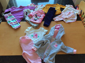 Lot de vêtements fille 3 à6 mois