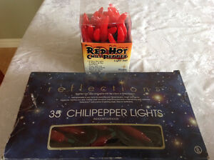 2 sets of chili pepper lights, $20 for both
