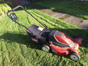 "TORO 20"" cordless rechargeable lawnmower"