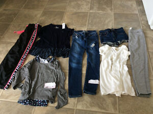 Lot of Abercrombie kid plus white sweater RX size girl 12