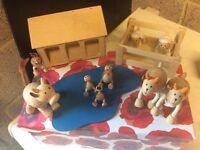 Wooden Doll's House Farm Animal Set