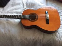 Valencia classical guitar 3/4 with fabric case.