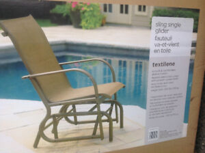 Glider patio chair - Brand new in box - Sold Pending Pick Up