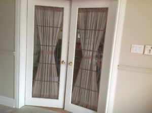 White French Doors with beveled glass