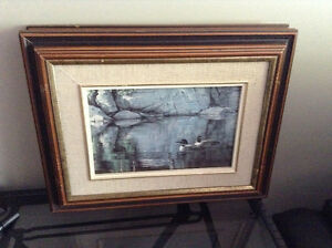 4 solid wood framed animal prints   8.00 each or all 4 for 20.00 Kingston Kingston Area image 4