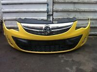 Vauxhall corsa facelift 2011 2012 2013 2014 genuine front bumper NO GRILLES