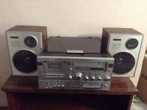 Stereo System with Cassette and Turntable
