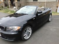 2010 BMW 1-Series 128i, sport package Convertible, Black, beige