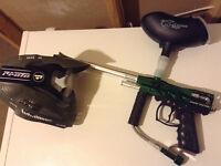 2 paintball markers for sale with mask.