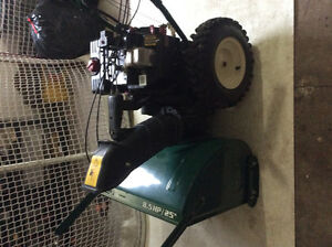 Mtd 8 1/2 hp 25 inch cut  with electric start