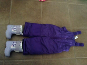 Snowpant, winter boot, sherpa hoodie and rain jacket for 12m