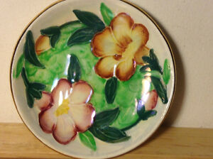 Art Deco MALING Lustre Hand Painted Pottery Trinket Dish ca.1930