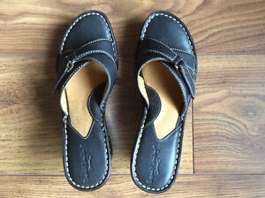 Various women leather shoes for sale (size 8) $10 to $40