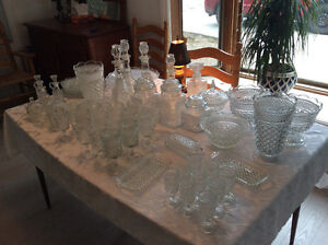 60 pieces of Wexford glass