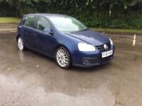 VOLKSWAGON GOLF GT TDI 5 DOOR 07 PLATE