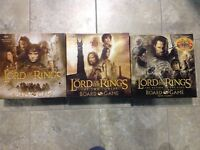 3 Lord of the Rings board games