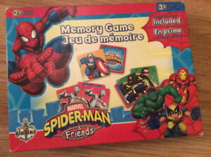 jeu de mémoire spiderman et friends