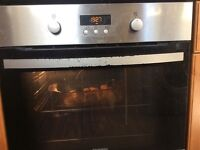 Zanussi integrated pyrolysis (self clean) fan oven with grill