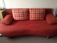 Double sofa bed with large storage