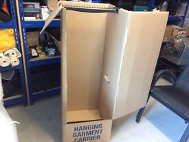 Cardboard wardrobes for moving house