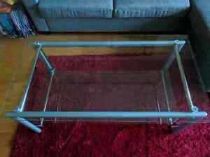 Glass top coffee table - great condition!