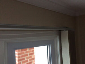Vertical blinds and wood valance