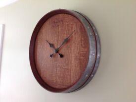 Wine Barrel clock, French oak