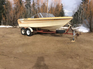 Tandem boat trailer $800 obo with free boat
