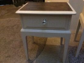 Up cycled stool with draw and table