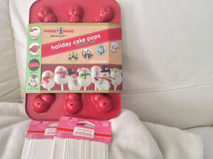Snowman Cake pop pans & 100 sticks - new in packaging, neverused