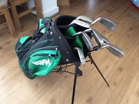 Full set of hippo irons and hippo bag & golf balls