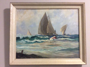 William E deGarthe original oil painting