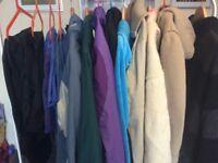 Job Lot car boot bundle, coats, waterproof trousers, tracksuit