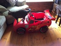 Lightning McQueen battery powered ride on car