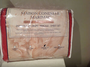Maison Condelle Marimac Gold Collection Percale Sheet set
