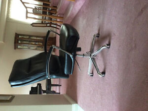 Black Leather desk/office chair