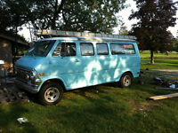 1969 camper ford van pop up roof rebuilt on the road fun to driv