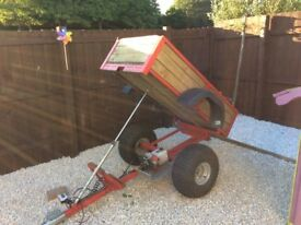 Garden trailer for atv or garden tractor