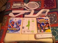 Wii fit & balance board 2 games and accessories (no console )