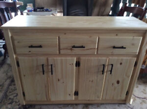 Solid Pine Buffet CAbinet