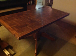 Solid, memorable kitchen table