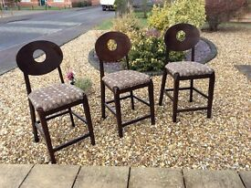 3 Breakfast/Bar stool Chairs, good condition..