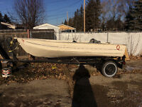 12 ft aluminum boat and trailer