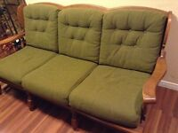 Couch with maple frame