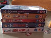 Grey's Anatomy DVD box sets 2-6