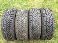 4 pneus hiver sur jantes 5x110 (205 55 r 16)