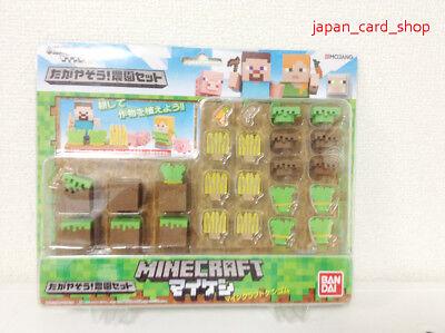 24326 Minecraft Eraser Let's Cultivate! Farm Set - Minecraft Erasers