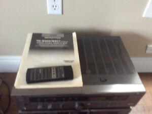JVC RECEIVER,TUNER,7 DISC CD PLAYER AND TA